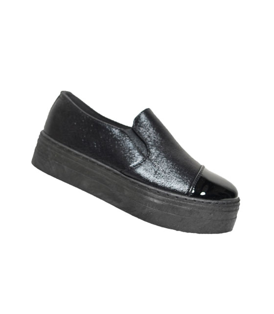 Sneaker δίπατο μαύρο slippers
