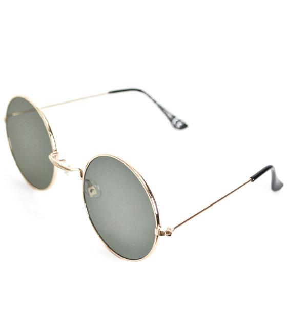 Στρόγγυλα γυαλιά ηλίου (Πράσινο)