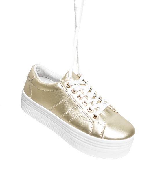 Gold lace sneaker