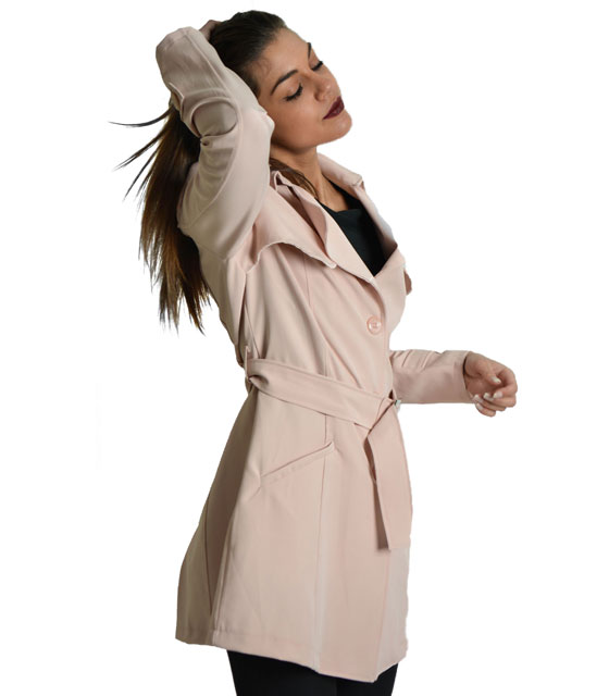 Pink classic trench coat