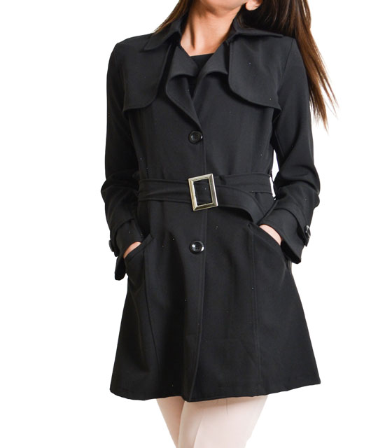 Black classic trench coat