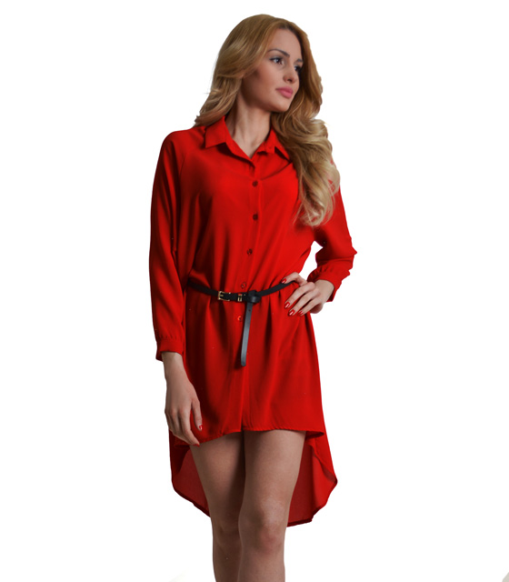 Μακρυά πουκαμίσα Κόκκινη