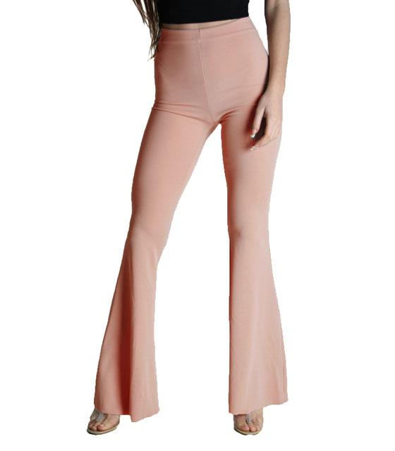 Παντελόνα καμπάνα Ροζ