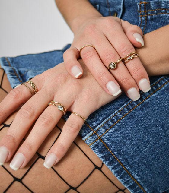 Σετ δαχτυλίδια (χρυσά)