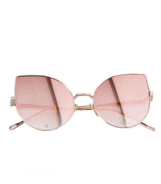 Γυαλιά' cat eye' με στρας (ροζ)