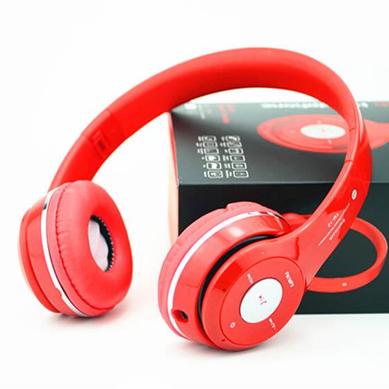 Κόκκινα ακουστικά κεφαλής με ασύρματη σύνδεση Universal (S460) αξεσουάρ   αξεσουάρ