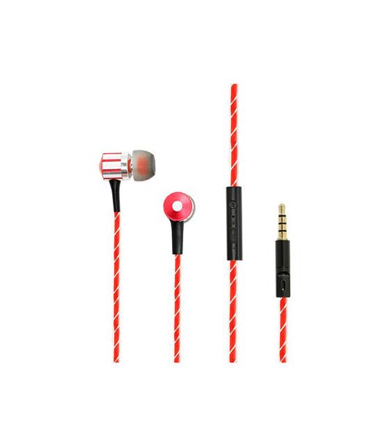 Ακουστικά Fashion Stereo με πλακέ καλώδιο (Κόκκινο)