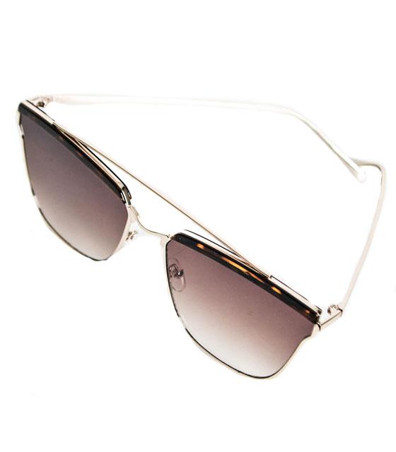 Γυαλιά ηλίου συρμάτινα καφέ ταρταρούγα