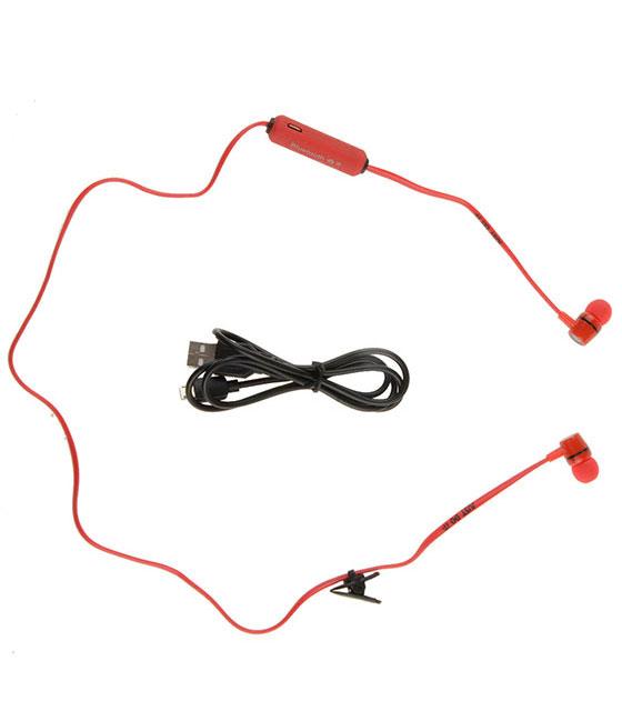 Κόκκινα ακουστικά με ασύρματη σύνδεση Universal (MS-B3)