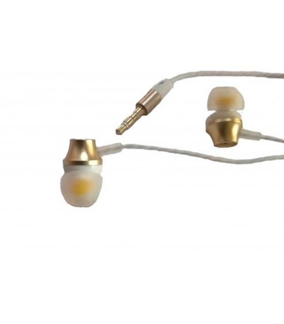 Ακουστικά New Science με καλώδιο σιλικόνης (Χρυσό)