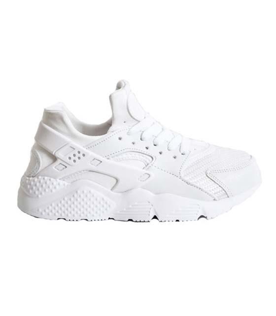 Λευκό sneaker με λαστιχένιες λεπτομέρειες