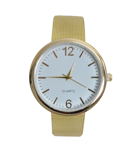Metal watch with strap (Gold)