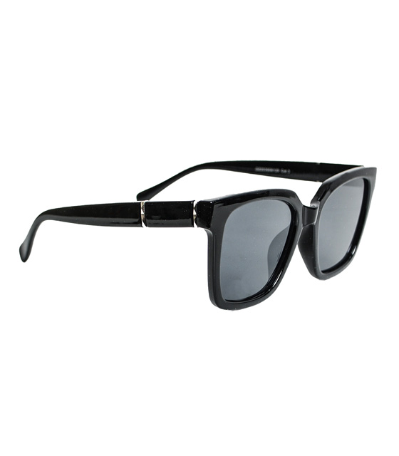 Black mask sunglasses with silver sides details
