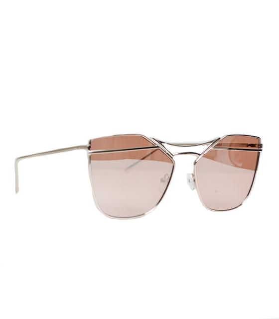 Μεταλλικά γυαλιά ηλίου Με Rose Gold φακό