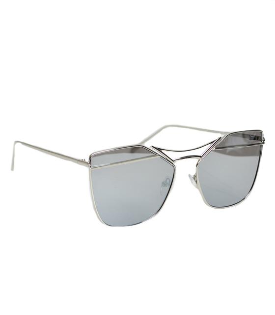 Μεταλλικά γυαλιά ηλίου Με ασημί φακό