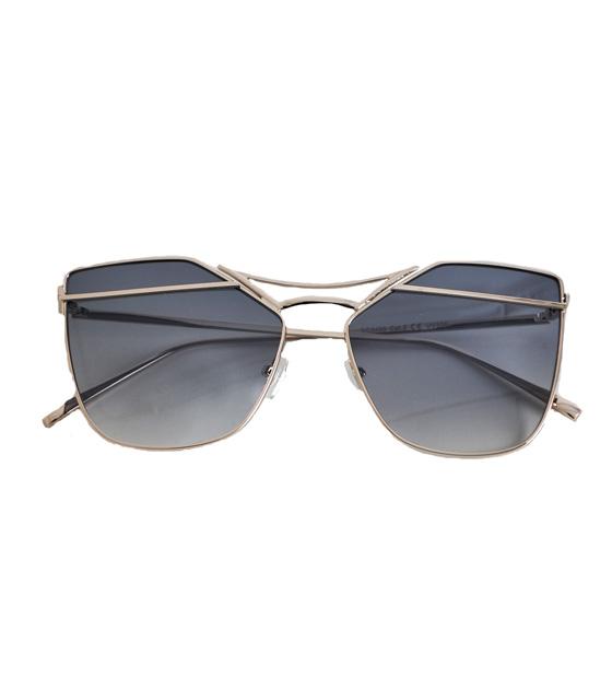 Μεταλλικά γυαλιά ηλίου χρυσά Με γκρι φακό
