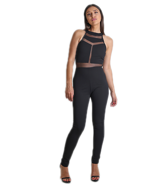Jumpsuit black elastic