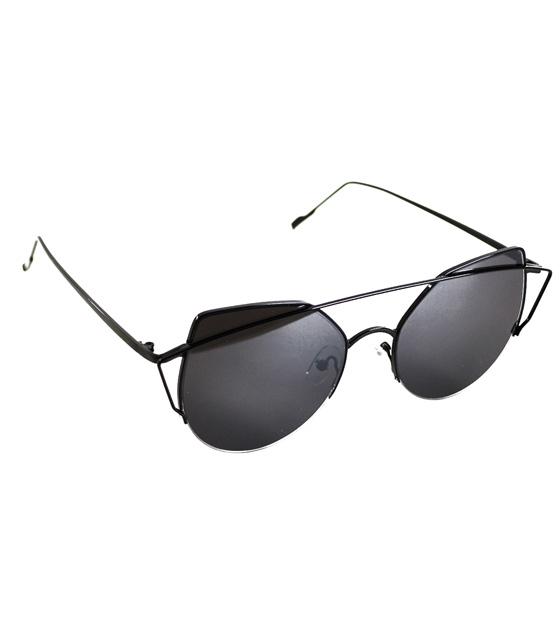 Γυαλιά Cat-Eye με μαύρο φακό και σκελετό μαύρο