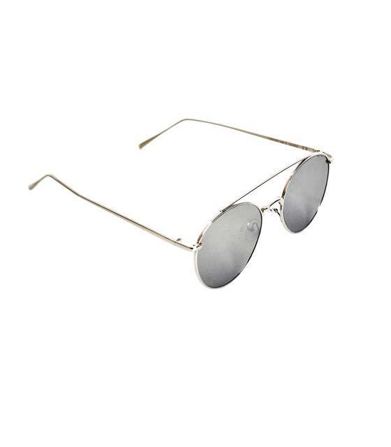 Γυαλιά μεταλλικά ασημί με ασημί καθρέφτη