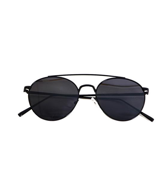 Γυαλιά μεταλλικά μαύρα με μαύρο φακό