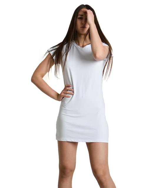 Λευκή μπλούζα κοντομάνικη