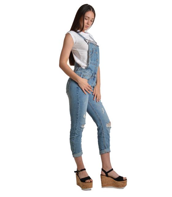 Τζιν σαλοπέτα με κουμπιά και σκισίματα ρούχα   bottoms   τζιν   σαλοπέτες