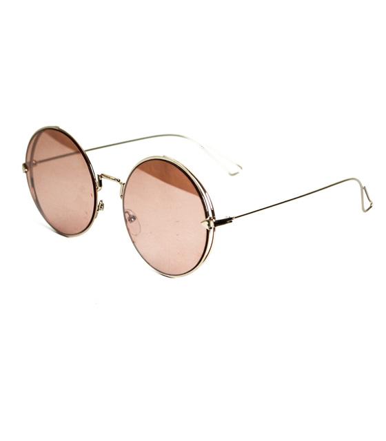 Στρόγγυλα γυαλιά ηλίου ροζ