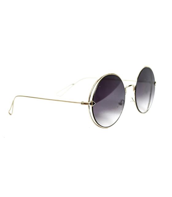 Στρόγγυλα γυαλιά ηλίου μοβ-μαύρα