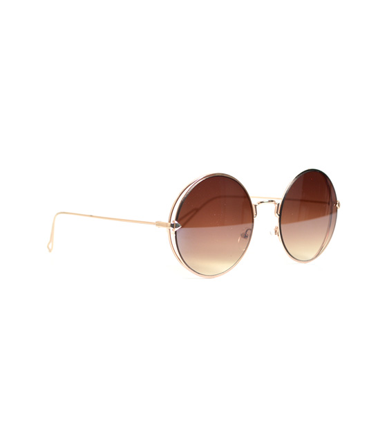 Στρόγγυλα γυαλιά ηλίου σέπια