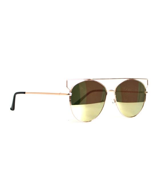 Γυαλιά με τετραγωνισμένο σύρμα χρυσό