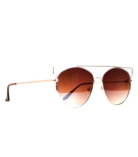 Γυαλιά με τετραγωνισμένο σύρμα καφε