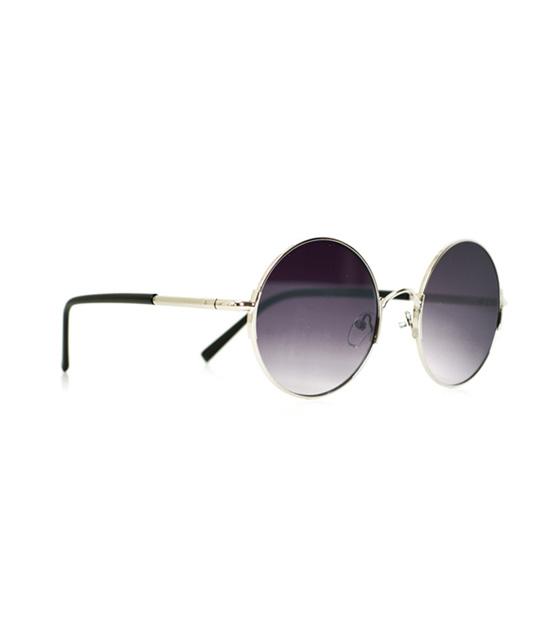 Στρόγγυλα γυαλιά με κοκκάλινο βραχίονα (Μωβ-μαύρα)