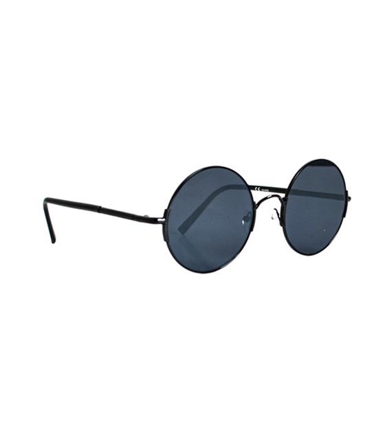 Στρόγγυλα γυαλιά με κοκκάλινο βραχίονα μαύρο