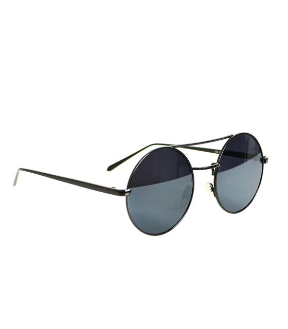 Αll black γυαλιά στρόγγυλα με σύρμα στο πάνω μέρος