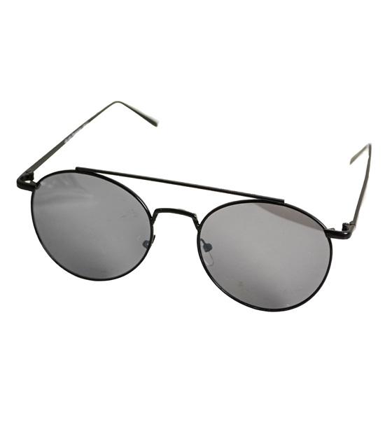 Οβαλ all black γυαλιά με σύρμα