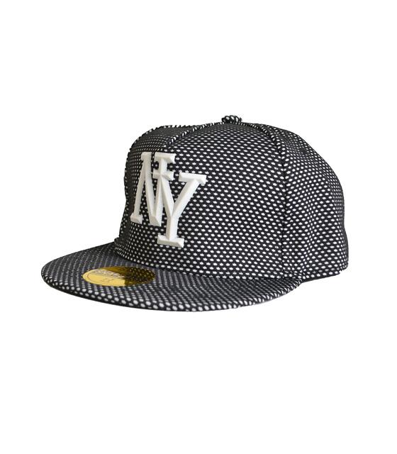 """Καπέλο μαύρο-πουά με λεπτομέρεια""""ΝΥ"""""""