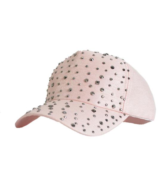 Καπέλο ροζ με λεπτομέρεια στρας
