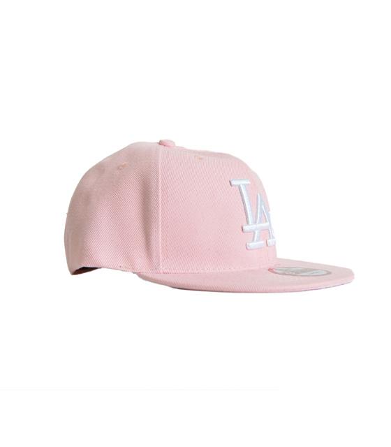 """Καπέλο ροζ με λεπτομέρεια """"LA"""""""