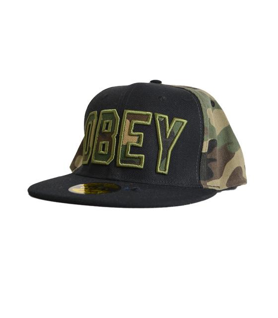 Καπέλο OBEY μαύρο-χακί
