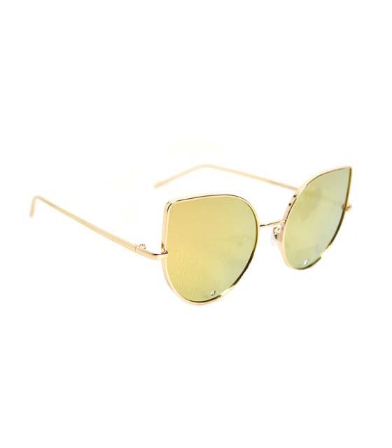 Γυαλιά Cat-Eye με στρας (Χρυσό)