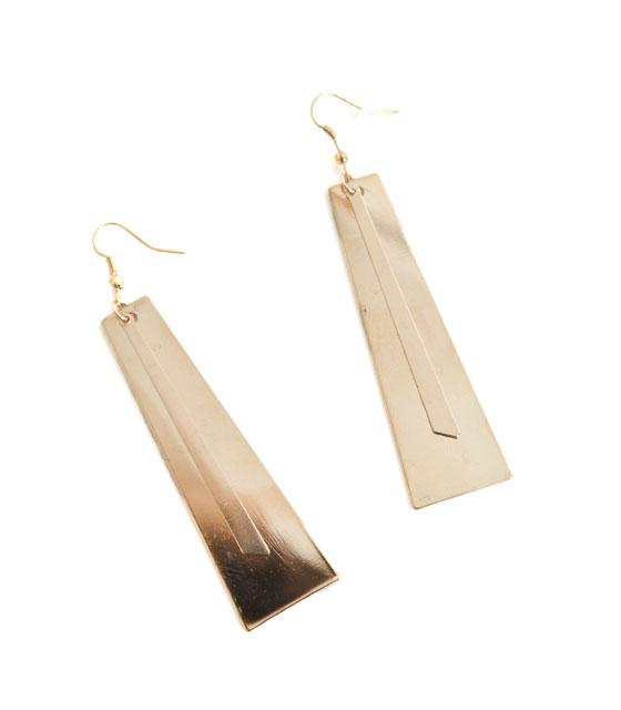 Σκουλαρίκια χρυσά με χρυσές λεπτομέρειες αξεσουάρ   σκουλαρίκια