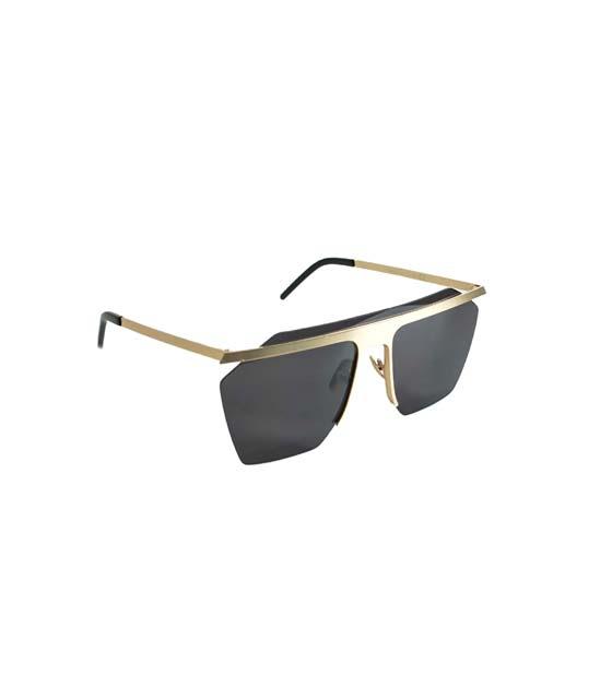 Γυαλιά ηλίου μάσκα με συρμάτινη λεπτομέρεια (Μαύρα)