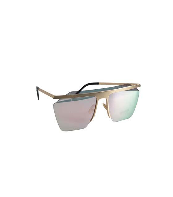 Γυαλιά ηλίου μάσκα με συρμάτινη λεπτομέρεια (Ιριδίζων)