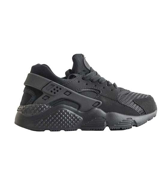 Μαύρο sneaker με λαστιχένιες λεπτομέρειες