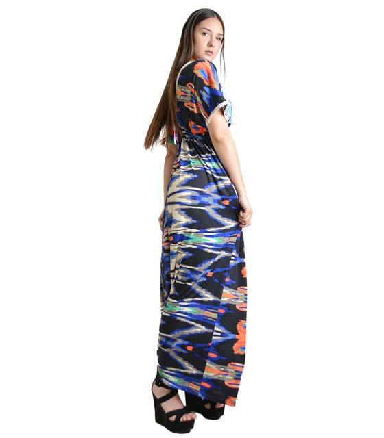 Φόρεμα μάξι εμπριμέ ρούχα   φορέματα
