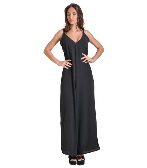Ολόσωμη φόρμα με τιράντες (Μαύρο)