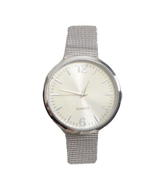 Μεταλλικό ρολόι με λουράκι (Ασημί)