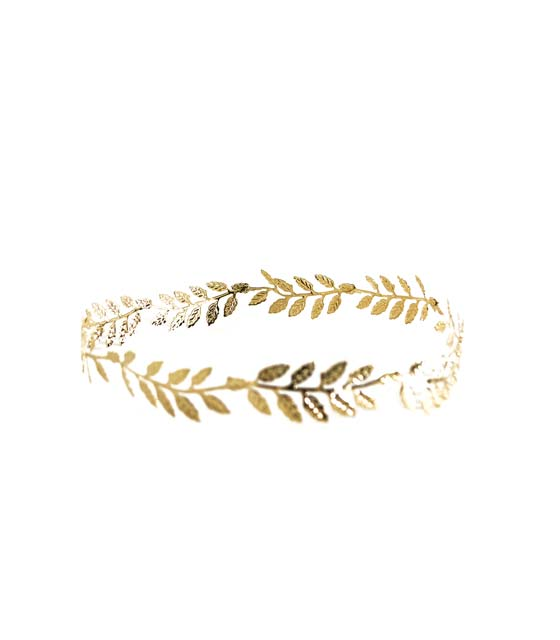 Χρυσό στεφάνι με φύλλα
