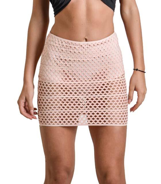 Μίνι φούστα με εσωτερικό σορτς (Ροζ)