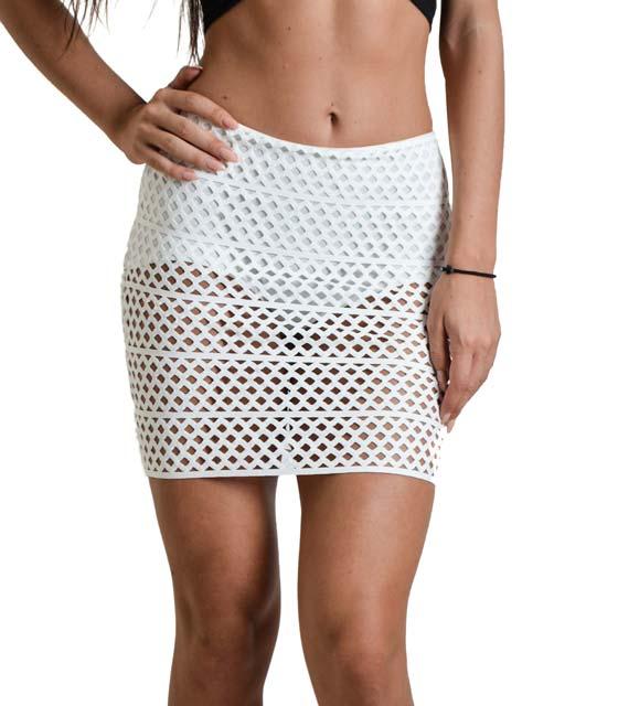 Μίνι φούστα με εσωτερικό σορτς (Λευκό)